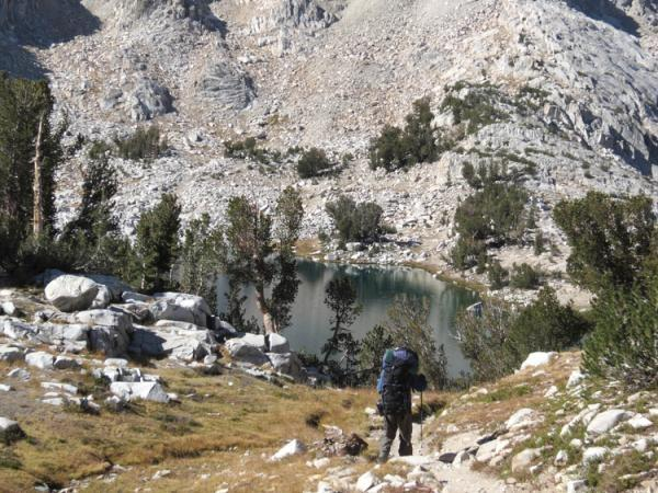 John Muir trail walking vacation, USA