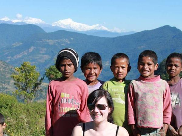 Nepal family vacation, walking in the Annapurnas