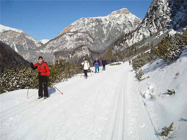 Cross country skiing vacation in the Dolomites, Italy