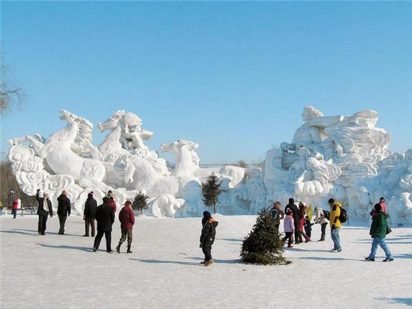 Harbin Ice Festival and Chinese New Year, China