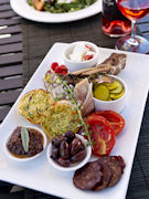 Food and wine in Clare Valley, South Australia. Photo by South Australia Tourist Board