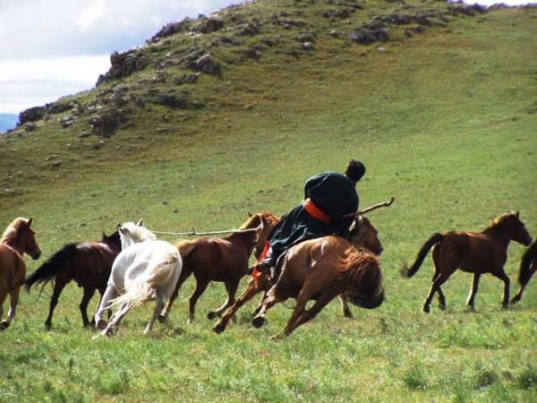 Genghis Khan warrior training in Mongolia