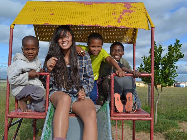 Family volunteering and safari vacation, South Africa