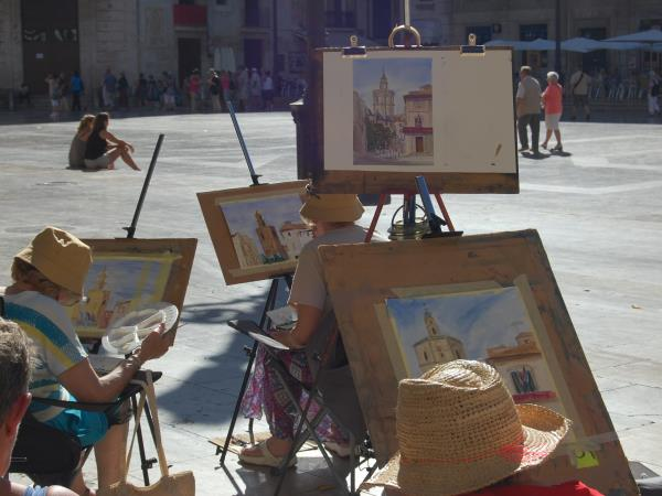 Painting vacation in Valencia, Spain