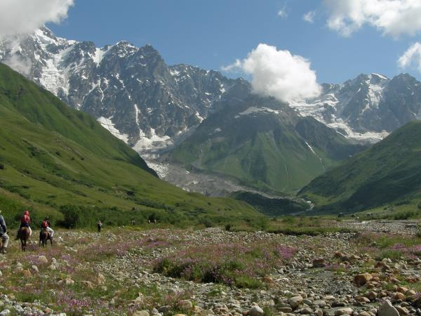 Georgia vacation, hiking in the Svaneti Mountains
