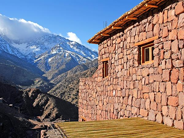 Atlas Mountains luxury trekking accommodation, Azzaden Valley