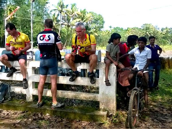 Walking and cycling vacation in Kerala, India