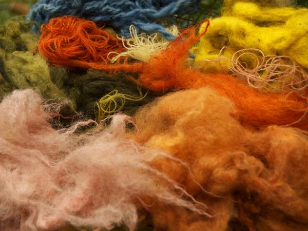 Scotland craft weekends, felt making & natural dyeing