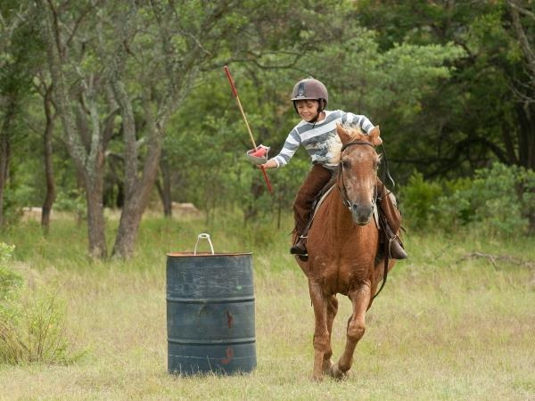 Family horse riding vacation in South Africa