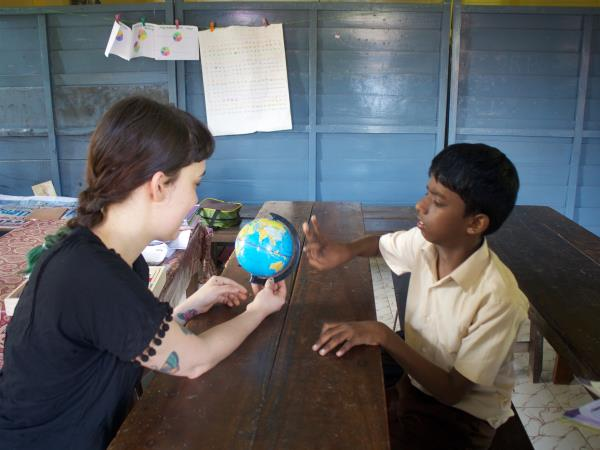 Teaching assistant volunteering in India