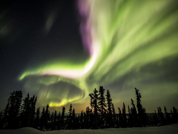Yukon northern lights vacation in Canada