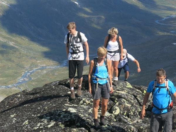 Mountain peaks hiking vacation in Norway