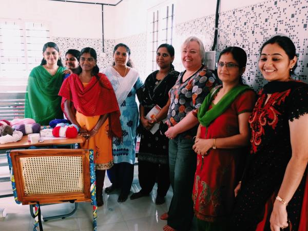 Over 50s volunteering in India