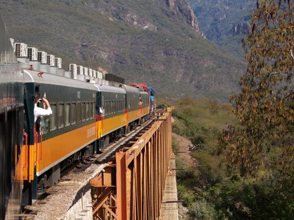Copper Canyon to Baja Coast in Mexico, rail and beach vacation