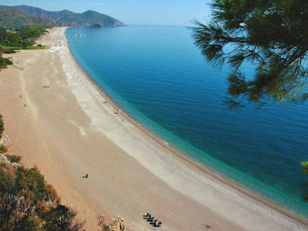 Beach vacation in Cirali, Turkey