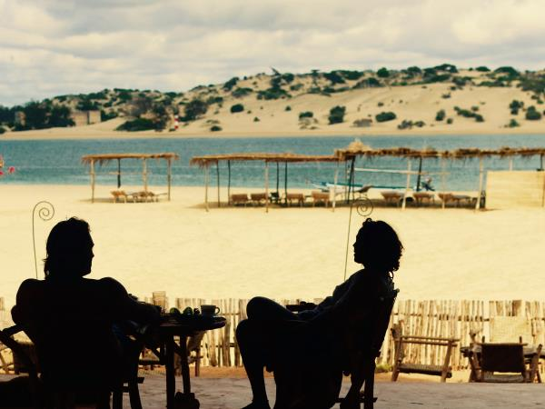 Kenya beach resort on Manda Island