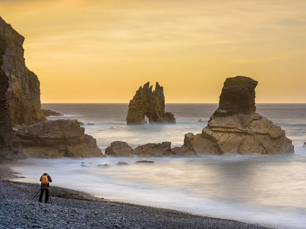 Northern Spain vacation holiday, wild seascapes