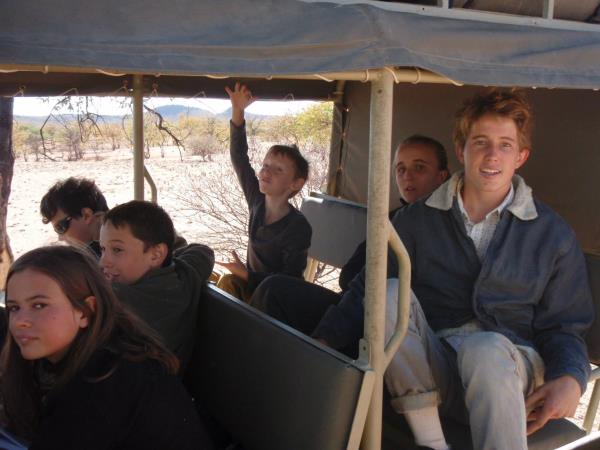 Family volunteering in Namibia, desert elephants
