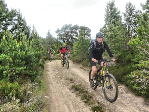 Cairngorms mountaing biking short break, Scotland