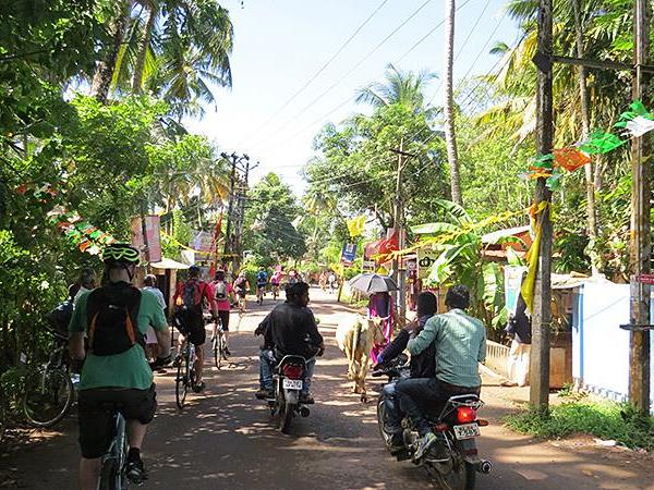 Small group cycling holiday in Kerala, India