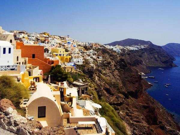 Greek Islands hiking vacation in West Crete & Santorini