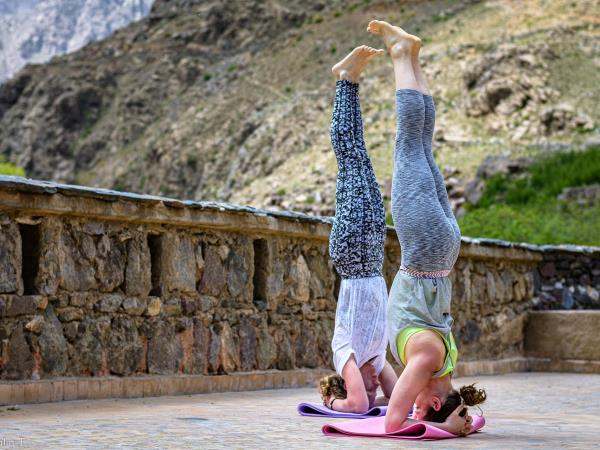 Morocco yoga vacation, summer yoga at the kasbah