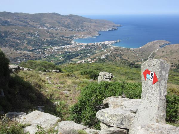 Andros trail walking vacation in Greece