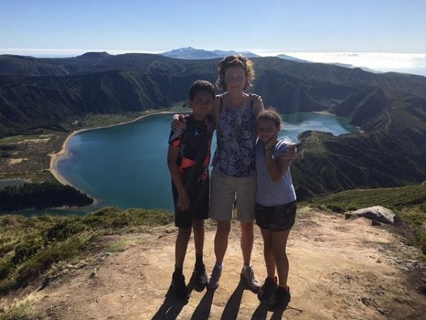 Azores family vacation, whale watching and walking