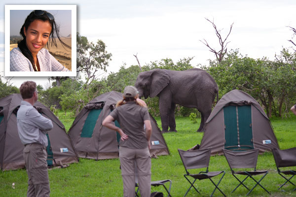 Camping safari in Botswana