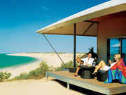 Eco beach accommodation in Western Australia. Photo by Tourism Western Australia