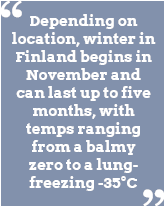 Best Time To Go On A Finland Winter Vacation