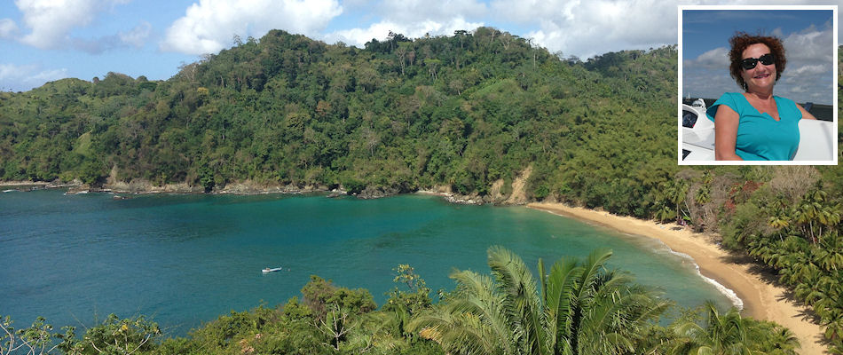 Englishman's Bay, Tobago and (inset) Vivianne McGrath