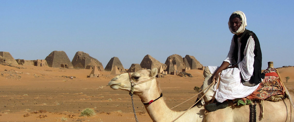 Camel rider at the pyramids