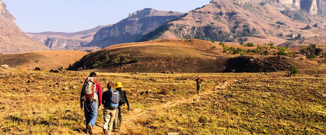 Walking in Drakensberg