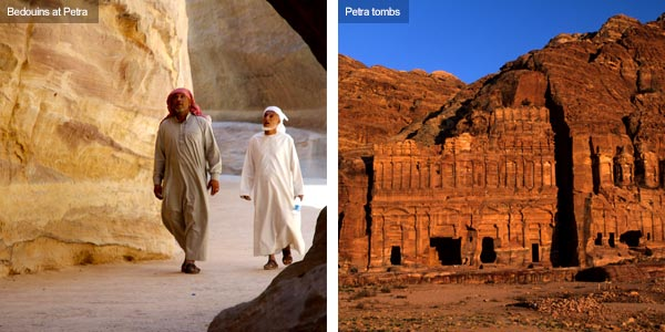 Bedouins and tombs at Petra, Jordan. Photos by Huw J Williams and Visit Jordan