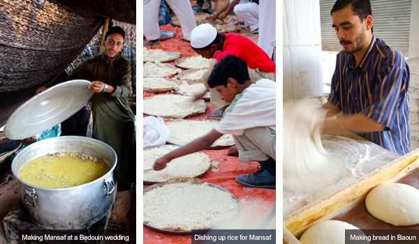 Mansaf, rice and bread making, Jordan. Photos by Huw J Williams