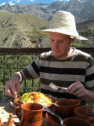 Lunch at  Kasbah du Toubkal in the Atlas Mountains