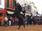 Horse at festival, Menorca. Photo by Menorca Tourist Board
