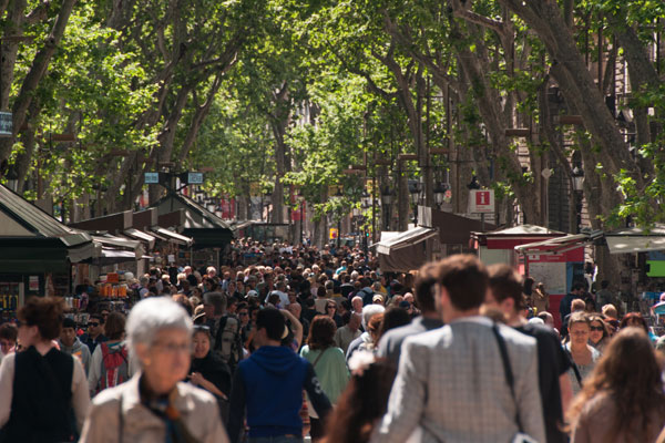 Crowds in Barcelona