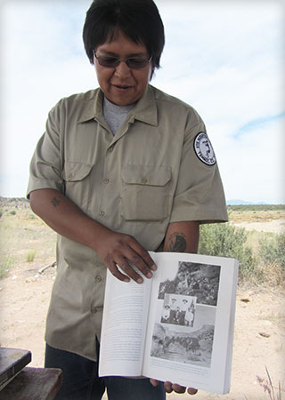 Tour guide in Ute Mountain Tribal Park, Colorado