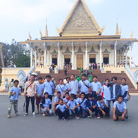Group in front of temples