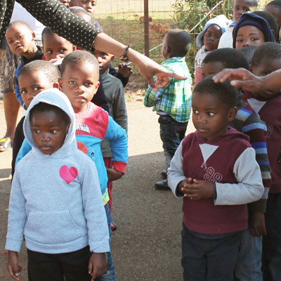 Children queuing