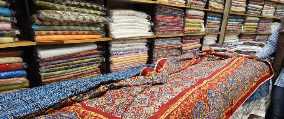A fabric shop in Jaipur