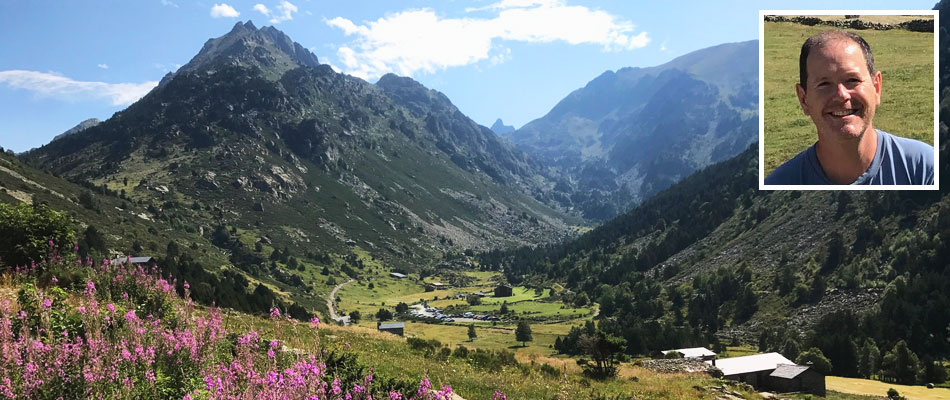Andorra valley and Daniel inset