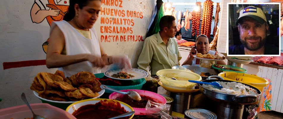 Food market in Oaxaca
