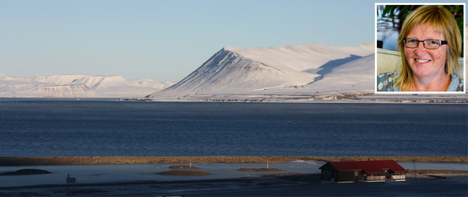 Spitsbergen view Lyn Hill