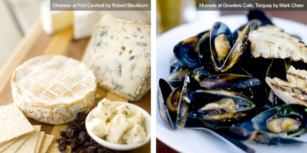Cheese and mussels, Victoria. Photos from Victoria Tourist Board