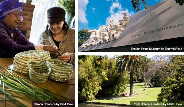 Narana Creations, Ian Potter Museum and Royal Botanic Gardens, Victoria. Photos from Victoria Tourist Board