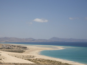 Bajovento beach and tidal lagoon, Fuerteventura. Photo by Nick Haslam