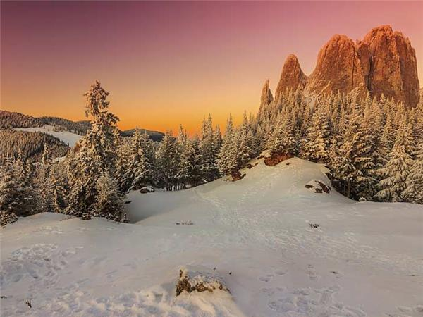 Transylvania winter walking and snowshoeing vacation